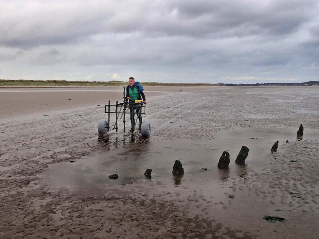 Geophysical survey of Bull Island was carried out to identify buried ship and boat timbers.
