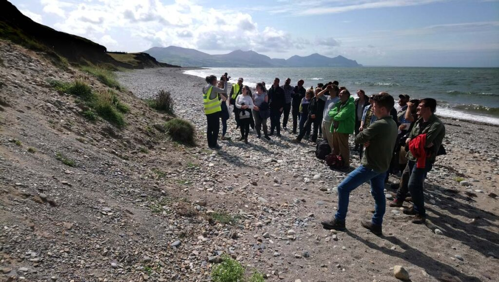CHERISH staff giving a public tour of the Dinas Dinlle site in North Wales.