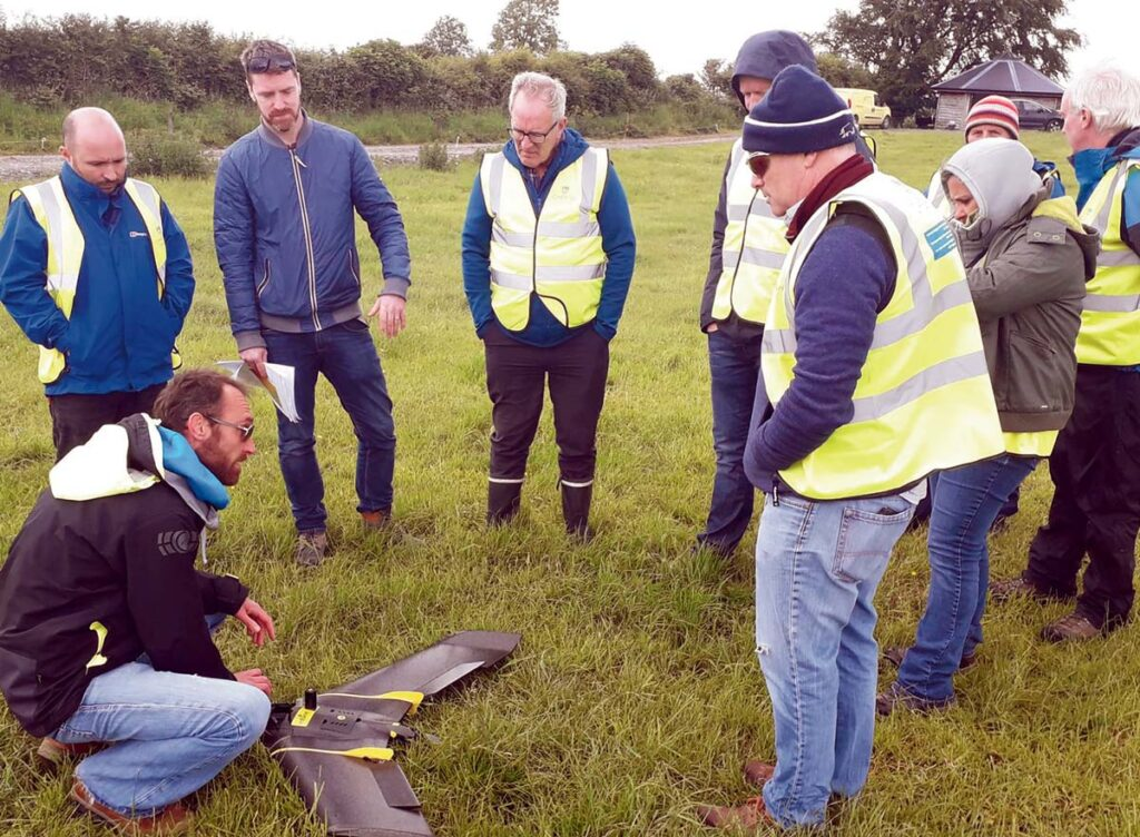 James Barry of the GSI briefs delegates of the CHERISH 2019 UAV Flying School before a survey.