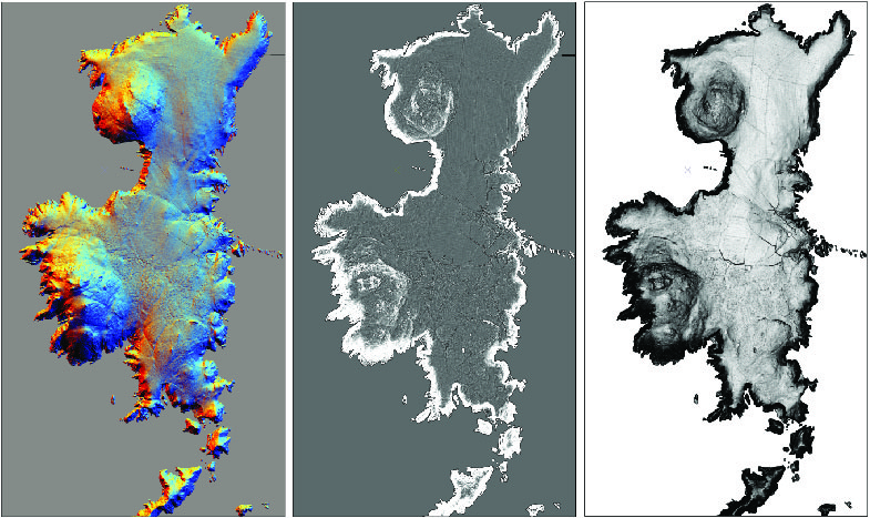 The different LiDAR visualisations that can be produced