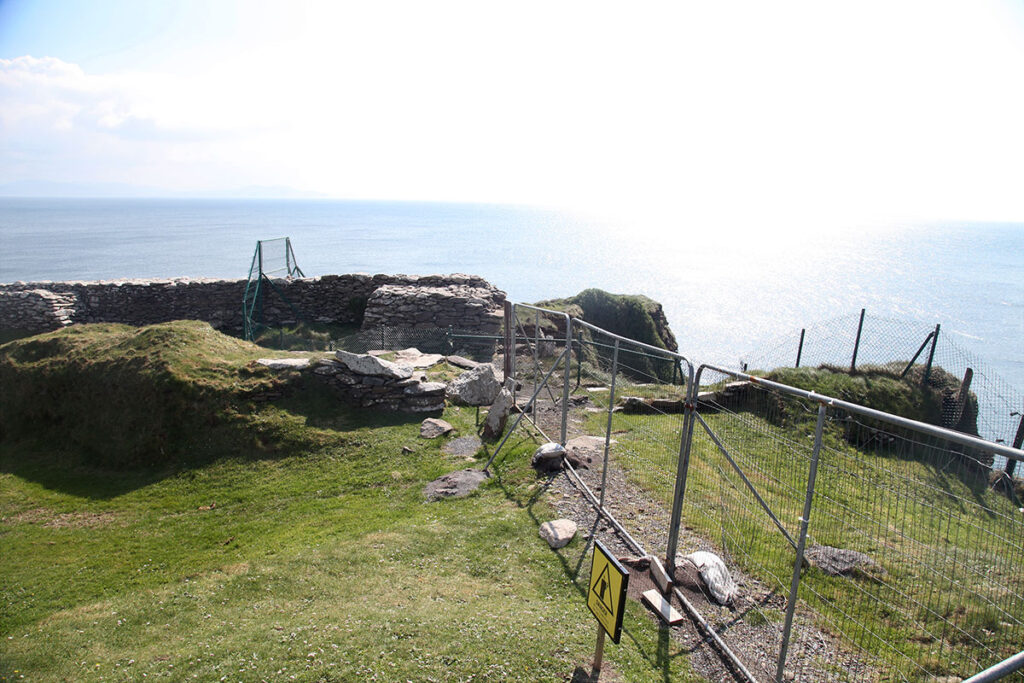 How it looks today with the original entrance to Dunbeg after collapse in April 2019
