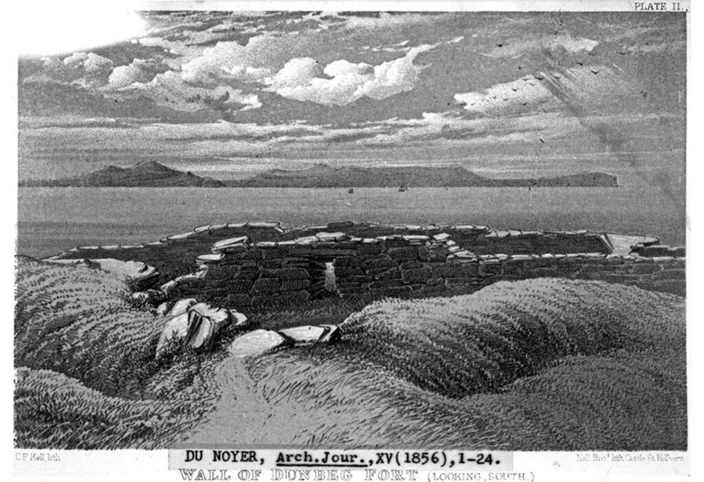 The entrance to Dunbeg (George Du Noyer in Archaeological Journal March 1858 vol. 15)