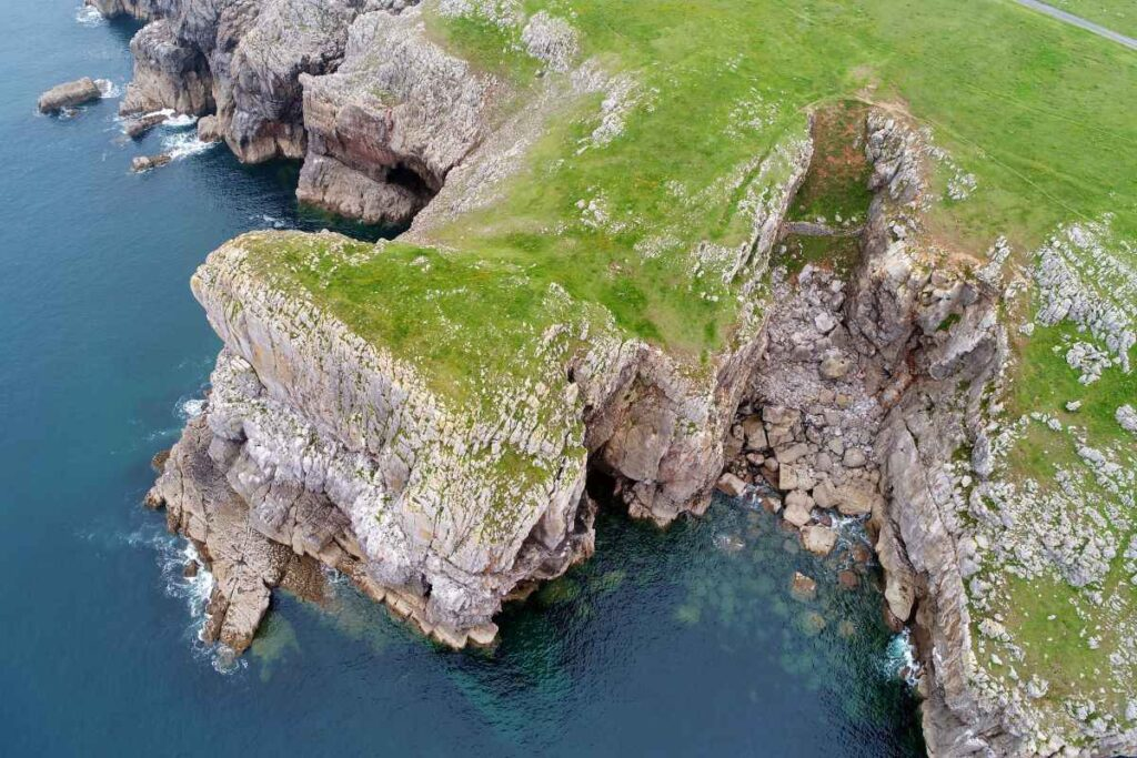 Crickmail down promontory fort as seen from the drone